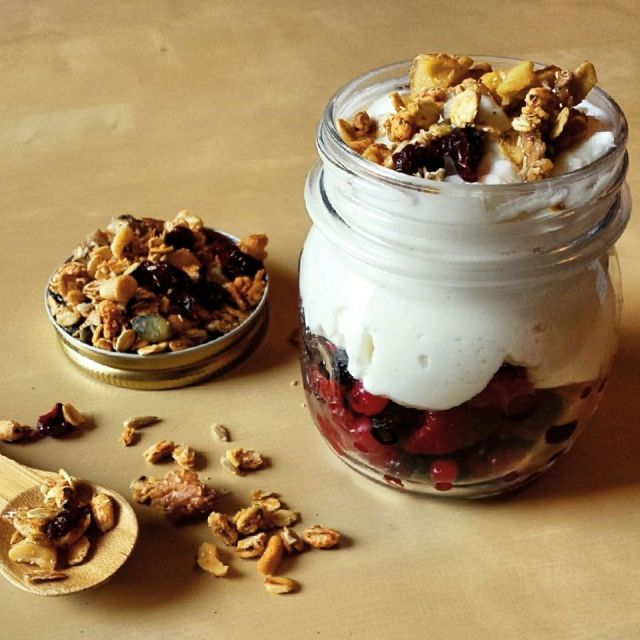 healthy orange ginger granola