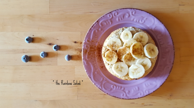 pancake fit banana e mirtilli - banana blueberry fit pancake
