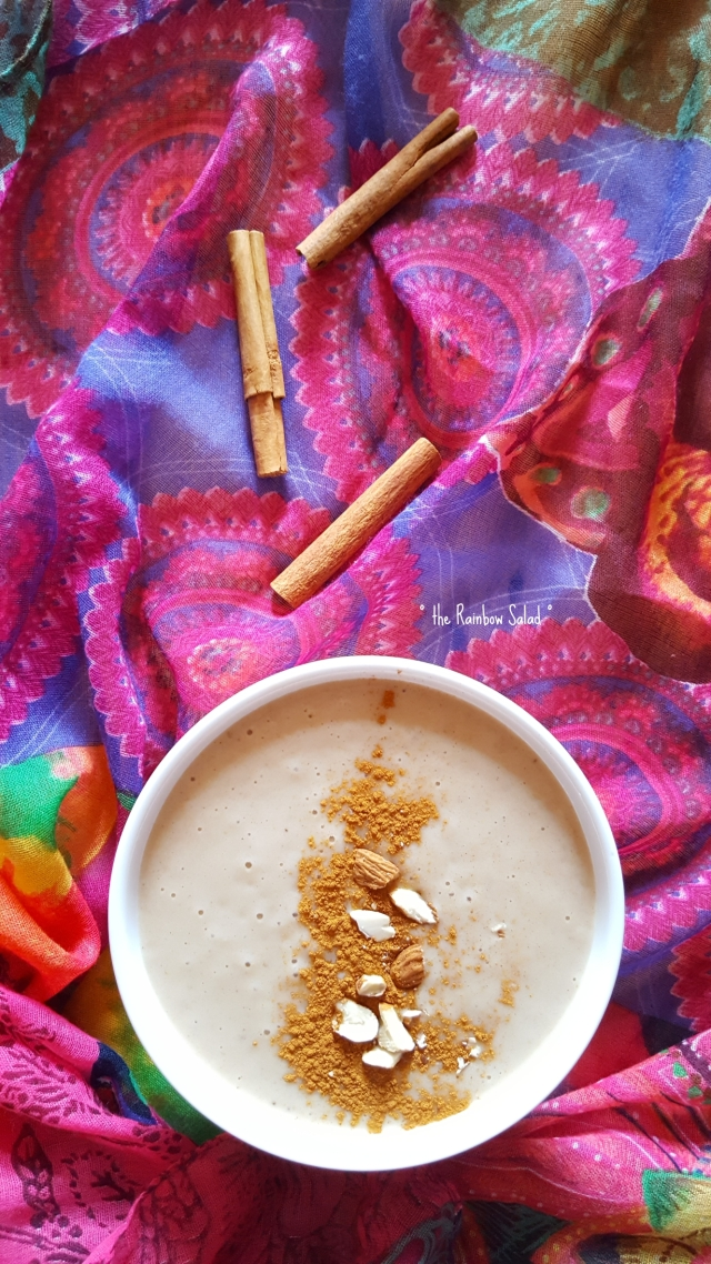 vegan chai vanilla smoothie bowl